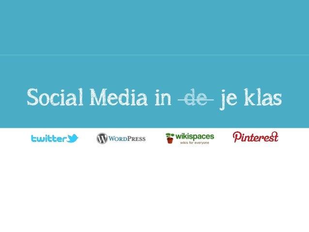 Social Media in de je klas