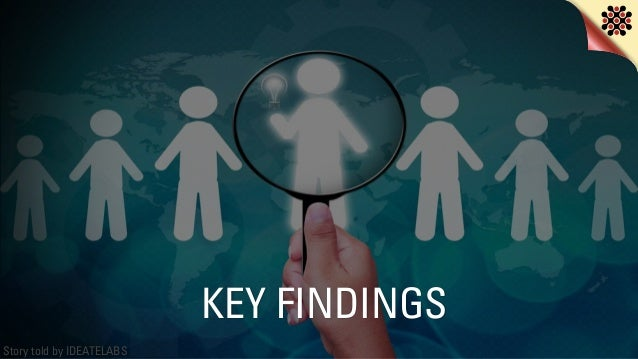 Story told by IDEATELABS KEY FINDINGS