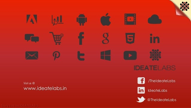 Story told by IDEATELABS www.ideatelabs.in IdeateLabs @TheIdeateLabs /TheIdeateLabs Visit us @