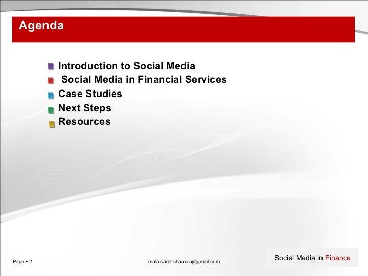 Social media in financial services Slide 2