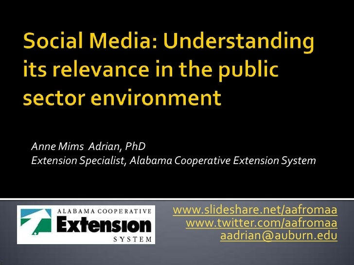 Anne Mims Adrian, PhDExtension Specialist, Alabama Cooperative Extension System                            www.slideshare....