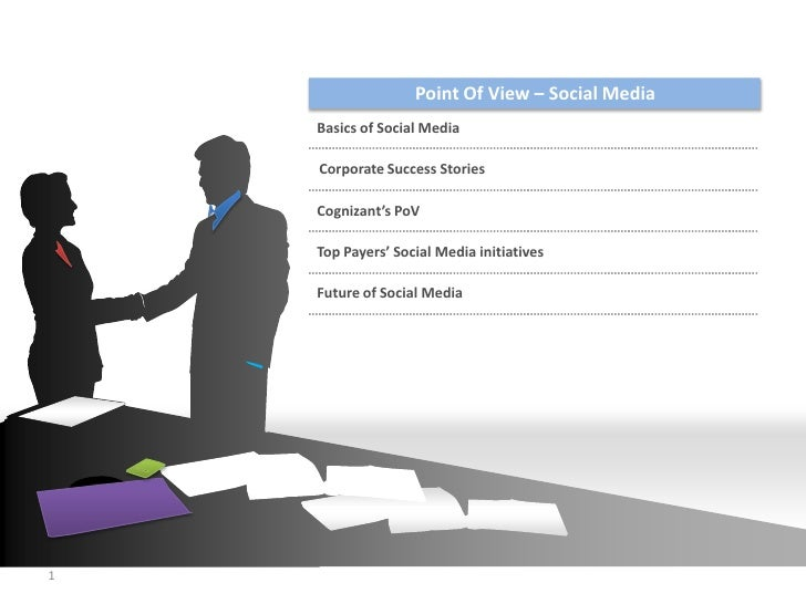Agenda                        Point Of View – Social Media         Basics of Social Media         Corporate Success Storie...
