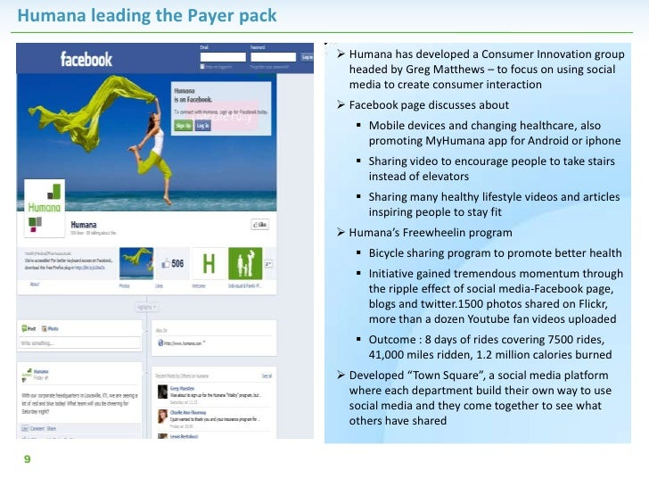 Humana leading the Payer pack                                 Humana has developed a Consumer Innovation group           ...