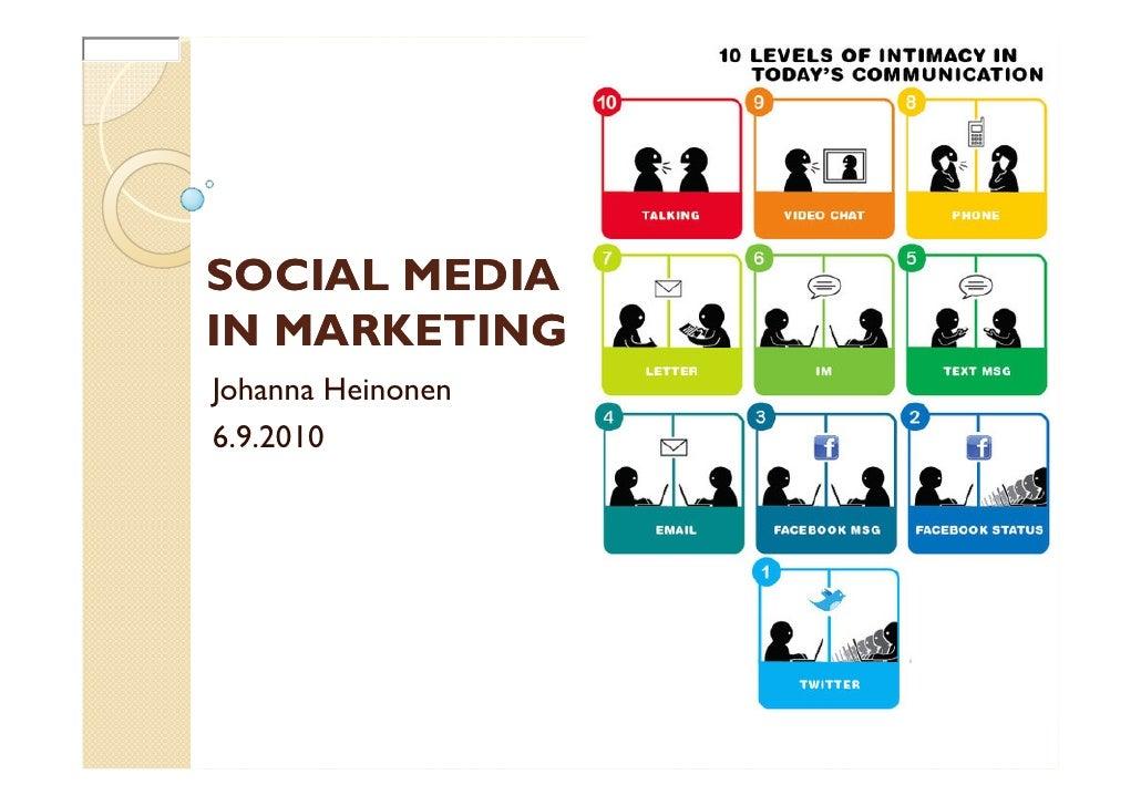 47999 h gttp://www http://www                  SOCIAL MEDIA              IN MARKETING              Johanna Heinonen       ...