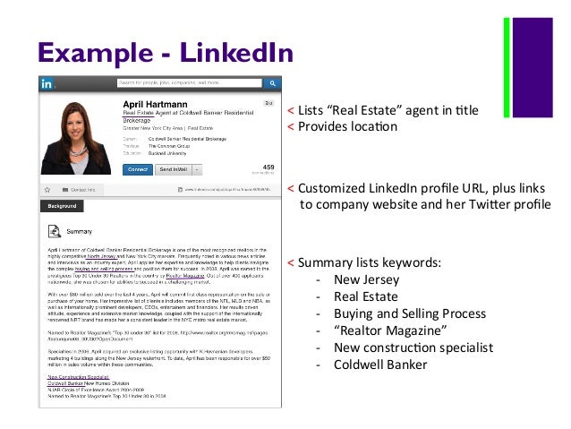 examples twitter 8 example linkedin lists real estate - Real Estate Profile Summary