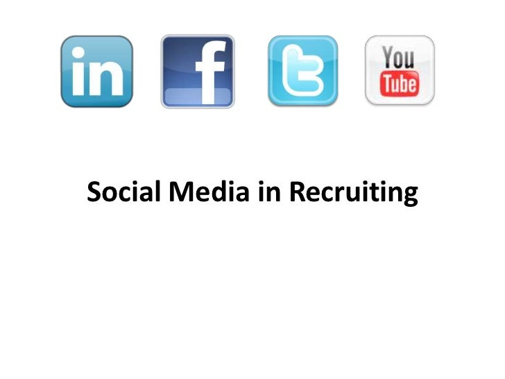 Social Media in Recruiting