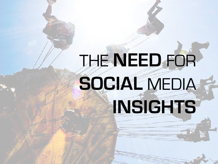 THE NEED FOR SOCIAL MEDIA    INSIGHTS