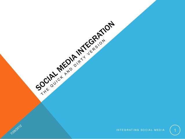 INTEGRATING SOCIAL MEDIA   1