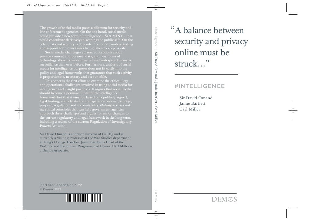 #intelligence cover    24/4/12    10:52 AM     Page 1       The growth of social media poses a dilemma for security and   ...