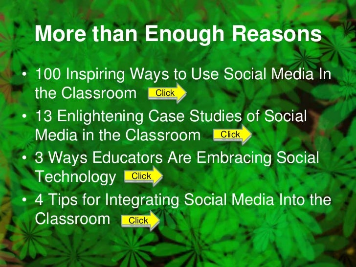 essay social media in the classroom Social media can wreak havoc when students become distracted in the middle of class some educators have gone so far as to ban social media in the classroom, but.