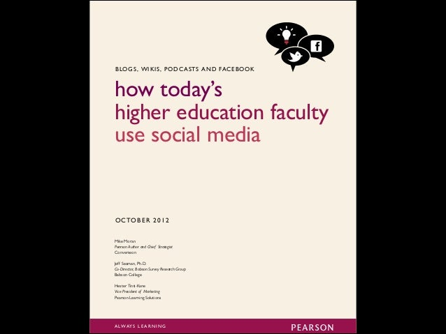 70 70 70 30% 35% 41% 55+ 45-54 35-44 Faculty social media use by age 70 38% Under 35