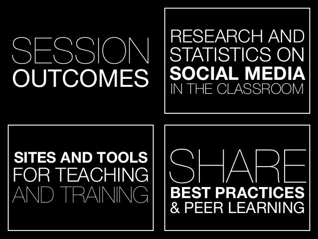 SITES AND TOOLS FOR TEACHING AND TRAINING SESSION OUTCOMES SHAREBEST PRACTICES & PEER LEARNING RESEARCH AND STATISTICS ON ...