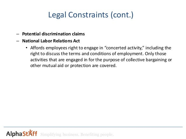 legal constraints on a business