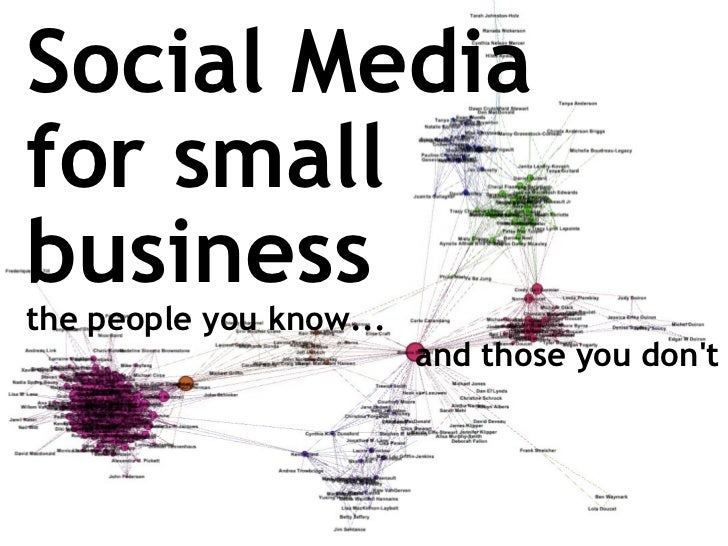 Social Media for small business   the people you know...  and those you don't