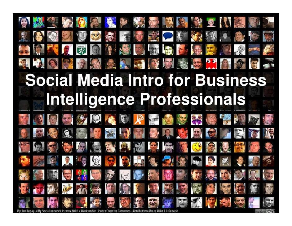 Social Media Intro for Business      Intelligence Professionals     www.ThirdNature.net   Mark R. Madsen   Slide 1