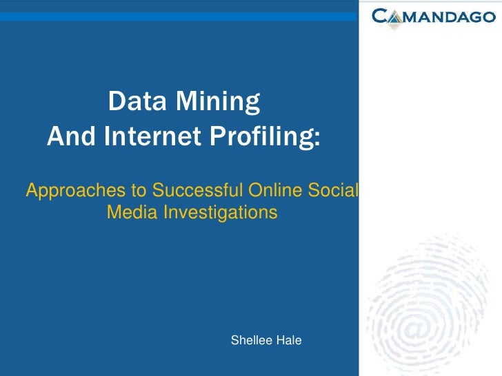 Data Mining And Internet Profiling:<br />Approaches to Successful Online Social Media Investigations<br />Shellee Hale<br />
