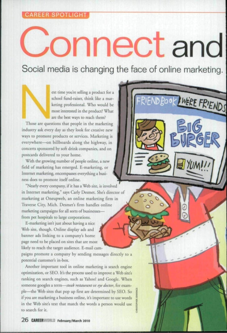 CAREER SPOTLIGHTConnect andSocial media is changing the face of online marketing.ÉL            i       •      . W^L       ...