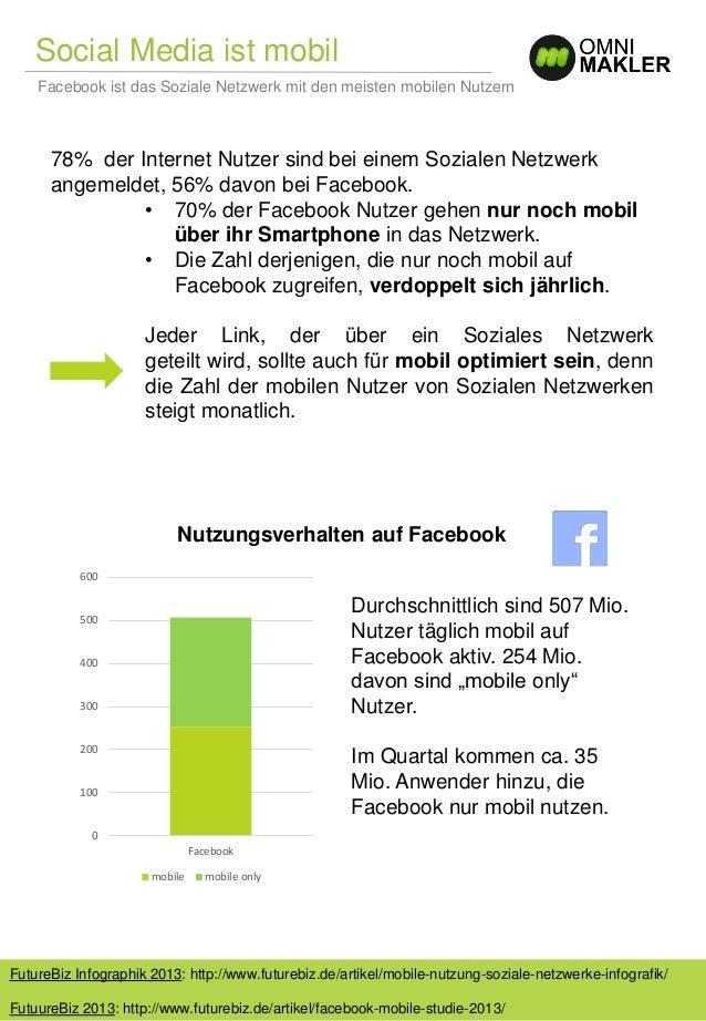 Nutzungsverhalten auf Facebook Social Media ist mobil FutureBiz Infographik 2013: http://www.futurebiz.de/artikel/mobile-n...