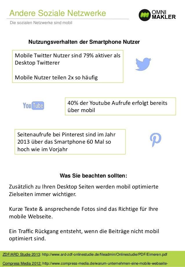 Andere Soziale Netzwerke Die sozialen Netzwerke sind mobil ZDF/ARD Studie 2013: http://www.ard-zdf-onlinestudie.de/fileadm...