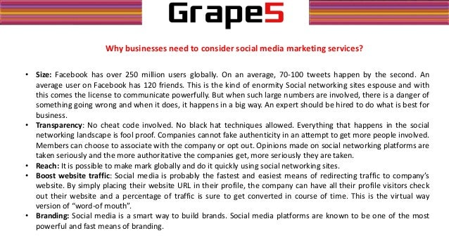 role of social media in marketing pdf