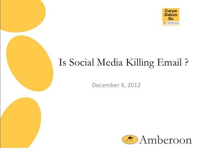 Is Social Media Killing Email ?       December 6, 2012