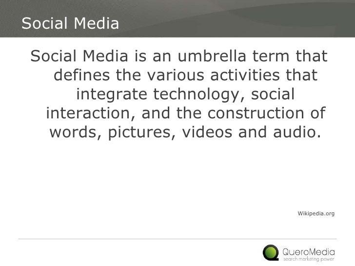 Social Media Landscape Slide 2