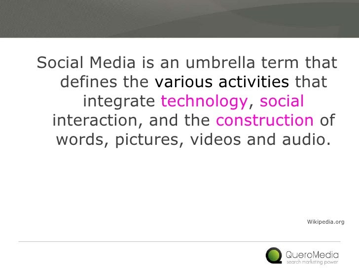 Social Media Landscape Slide 3
