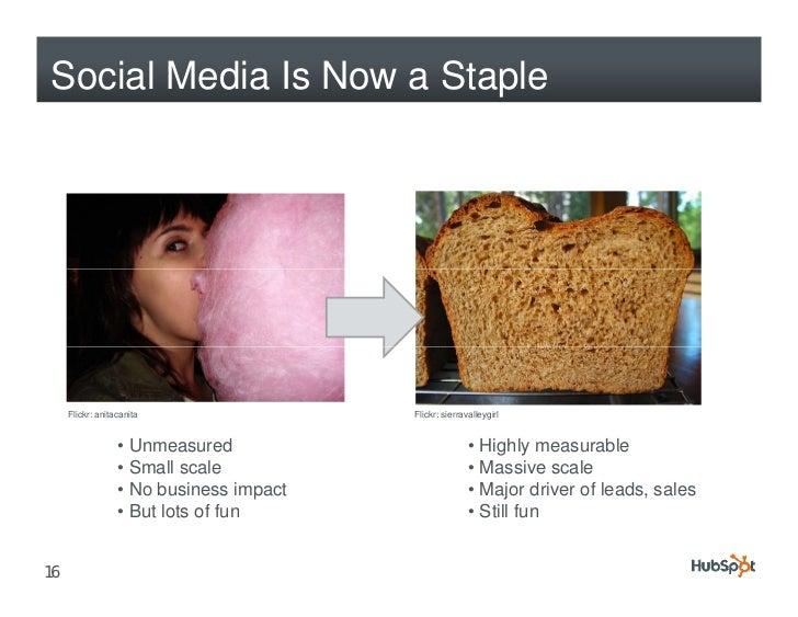 Social Media Is Now a Staple          Flickr: anitacanita                 Flickr: sierravalleygirl                     • U...