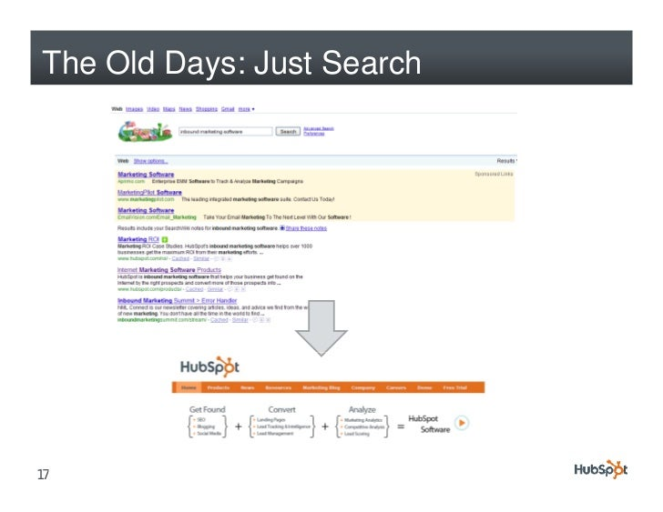 The Old Days: Just Search     17