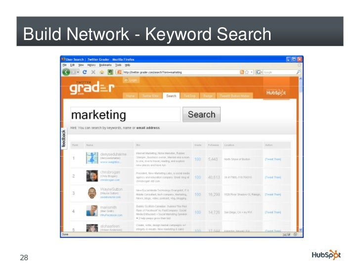 Build Network - Keyword Search     28