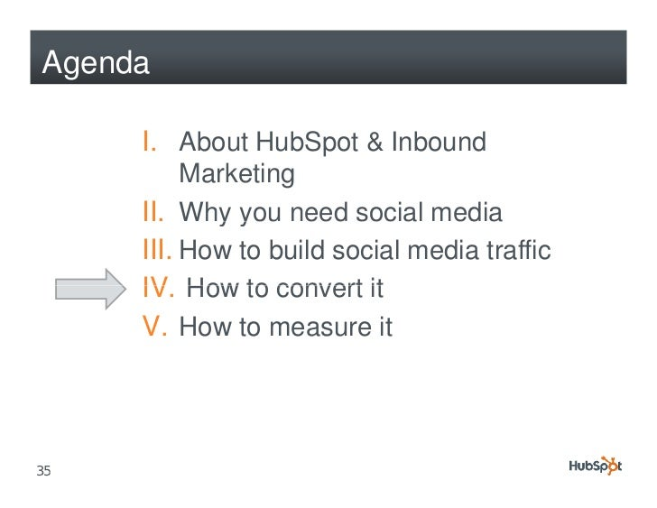 Agenda       I. About HubSpot & Inbound           Marketing      II. Why y need social media             y you      III. H...