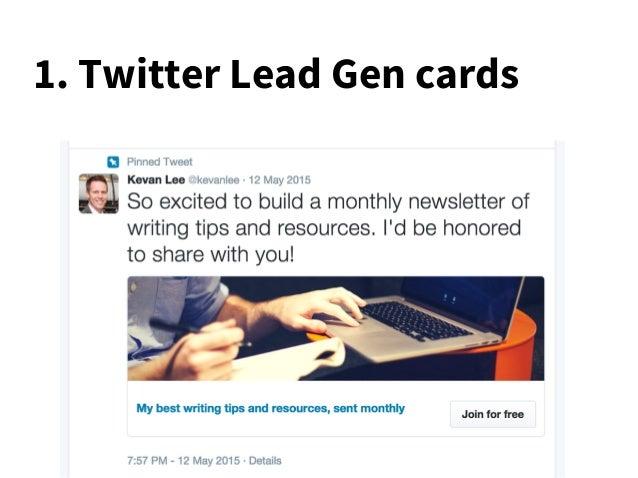 1. Twitter Lead Gen cards