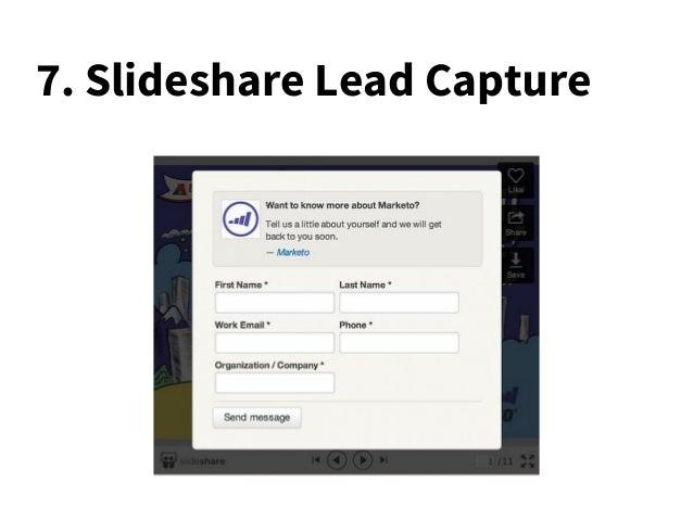 7. Slideshare Lead Capture