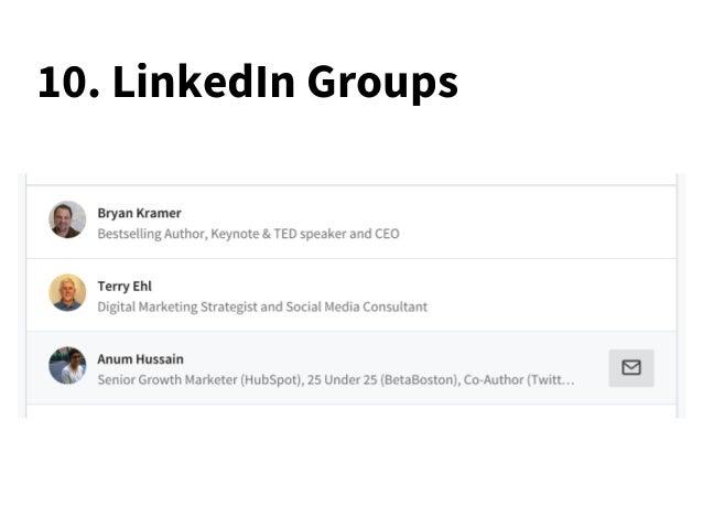10. LinkedIn Groups