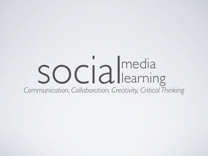 social                         media                                   learningCommunication, Collaboration, Creativity, C...