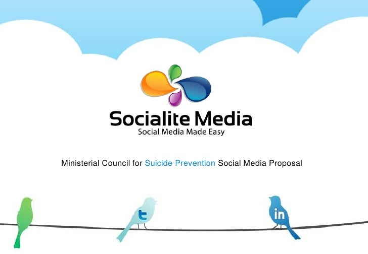 Ministerial Council for Suicide Prevention Social Media Proposal