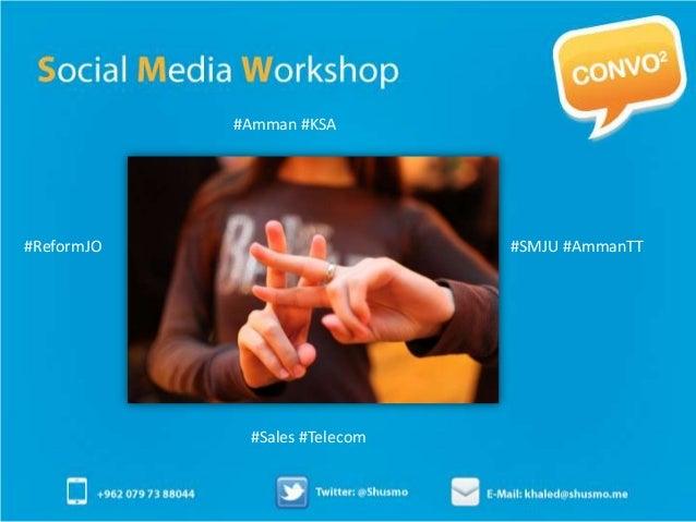 Social Media Workshop at Jordan University