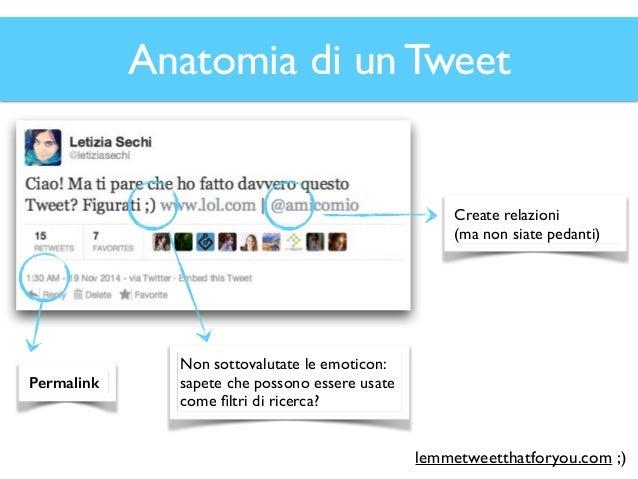 Anatomia di un Tweet (digressione) 2014