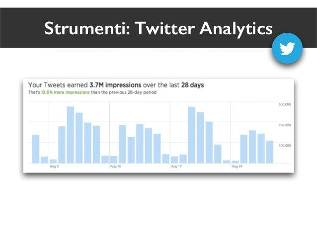 Strumenti: Twitter Analytics