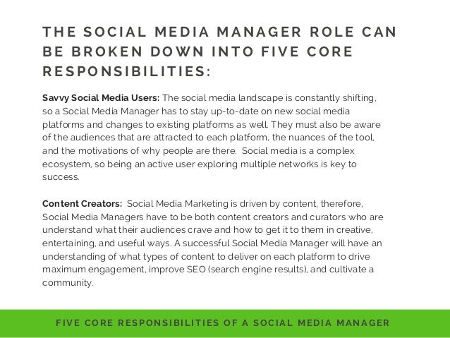 Social Media Manager Writing the Job Description – Social Media Marketing Job Description