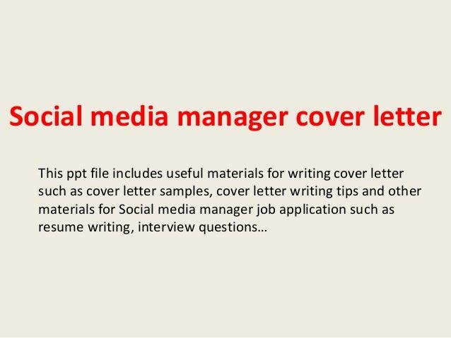 social media cover letters