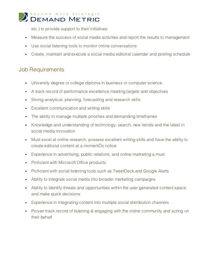 media manager job description - Forte.euforic.co