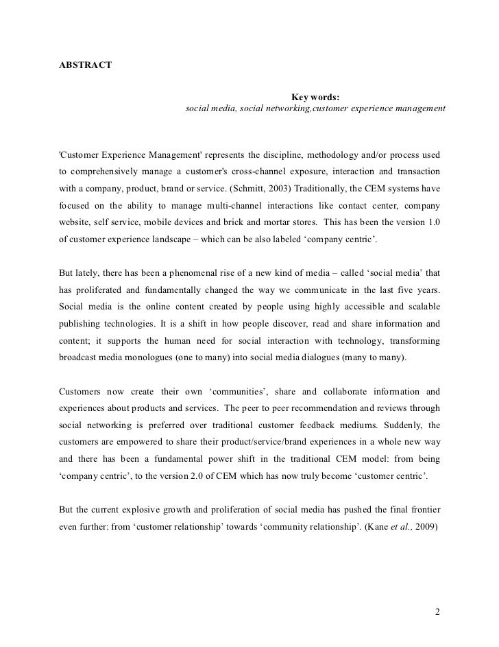 Social media research paper conclusion format