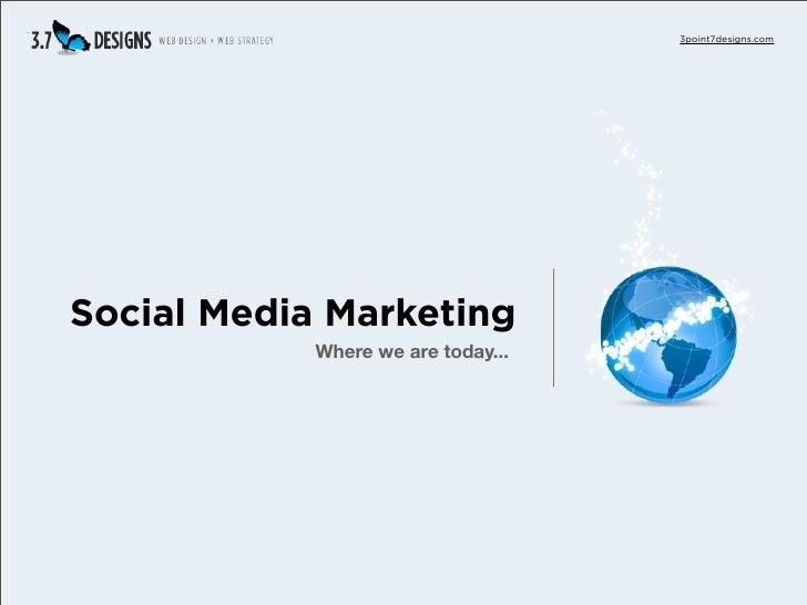 3point7designs.com     Social Media Marketing             Where we are today...