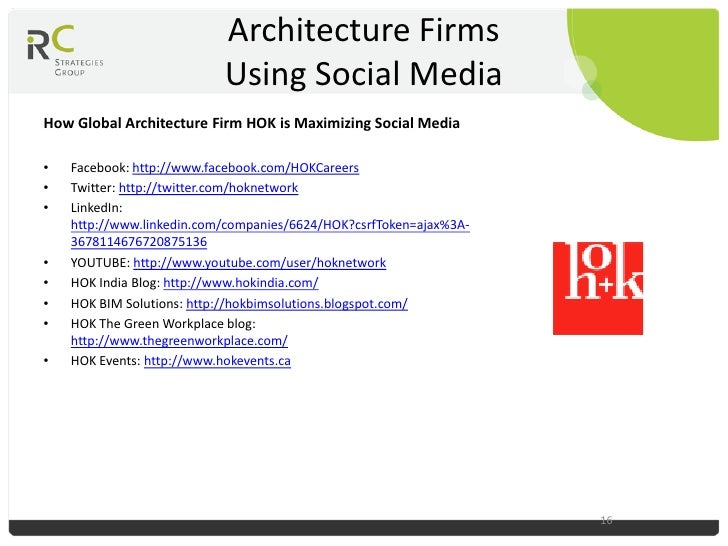 Social media marketing for the architectural industry for Architecture and design firms