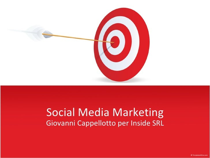 Social Media Marketing Giovanni Cappellotto per Inside SRL