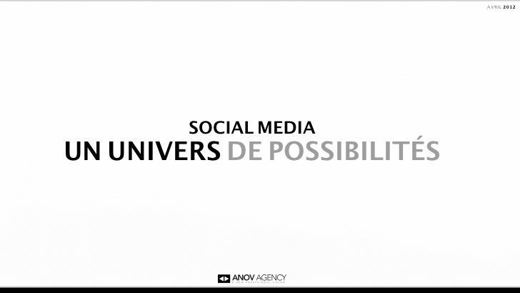 AVRIL 2012        SOCIAL MEDIAUN UNIVERS DE POSSIBILITÉS