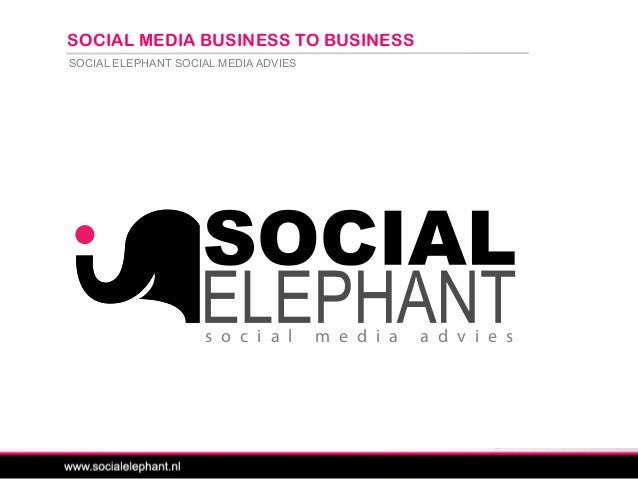 SOCIAL ELEPHANT SOCIAL MEDIA ADVIES SOCIAL MEDIA BUSINESS TO BUSINESS s o c i a l m e d i a a d v i e s