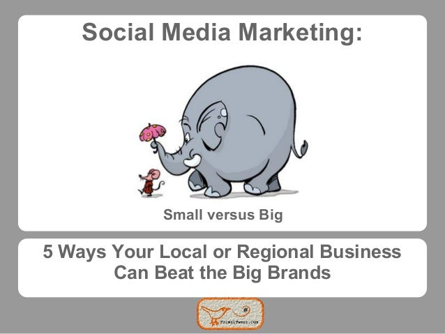 Social Media Marketing:            Small versus Big5 Ways Your Local or Regional Business       Can Beat the Big Brands