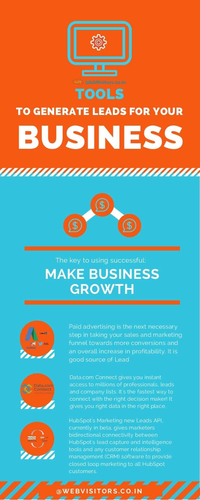 TO�GENERATE LEADS�FOR YOUR BUSINESS TOOLS MAKE�BUSINESS GROWTH The key to using successful: Paid advertising is the next n...